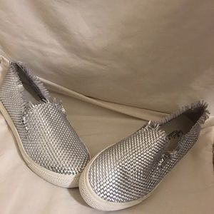 Loeffler Randall silver Mazzy loafers
